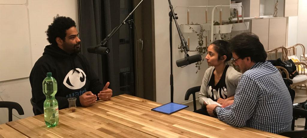 Interview mit M. Alkashef im mobilen Studio von Radio Connection Berlin