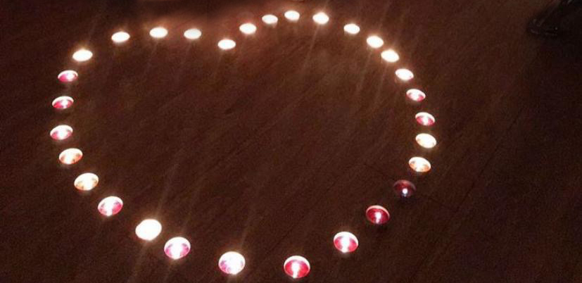 Valentinstag Kerzen in Herzform