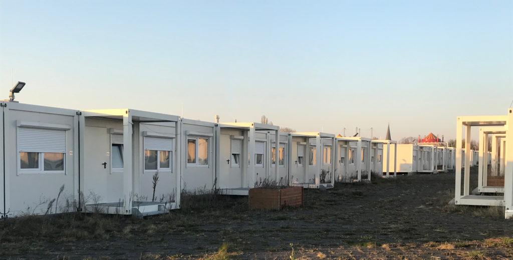 Container-Unterkunft für Geflüchtete in Berlin
